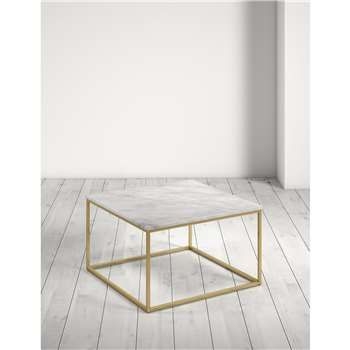 Farley Marble Square Coffee Table (H42.5 x W71 x D71cm)