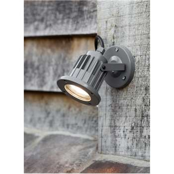 Farlow Spotlight in Charcoal - Steel (11.4 x 9.6cm)