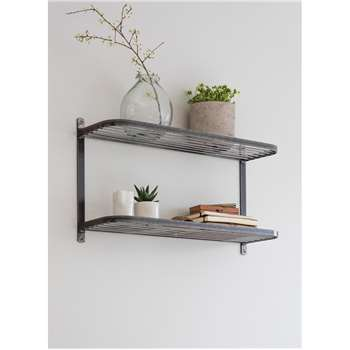 Farringdon Double Wall Shelf - Steel (40 x 70cm)
