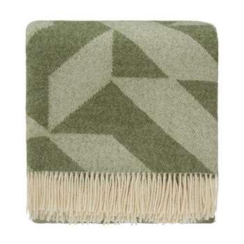 Farum Merino Blanket, Green & Cream (130 x 175cm)