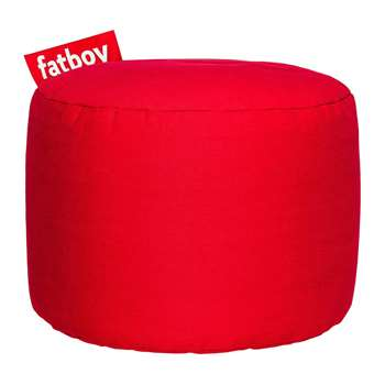 Fatboy - The Point Stonewashed Pouf - Red (H35 x W50 x D50cm)