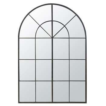 FAUSTIN Black Metal Mirror (H200 x W137 x D4cm)