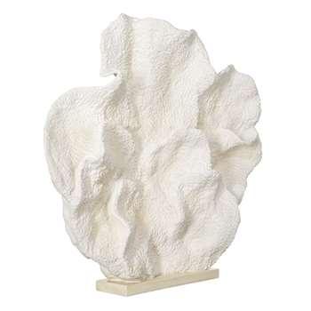 Faux Belize Coral Decoration - White (86 x 97cm)