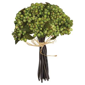 Faux Berry Bunch - Green (26 x 23cm)
