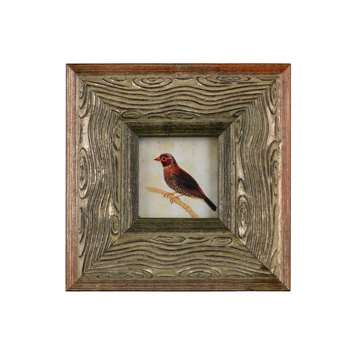 Faux Bois Frame with Print 3x3 (7.6 x 7.6cm)