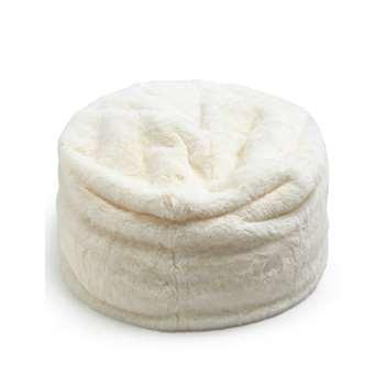 Faux Fur Bean Bag, Cream (40 x 70cm)