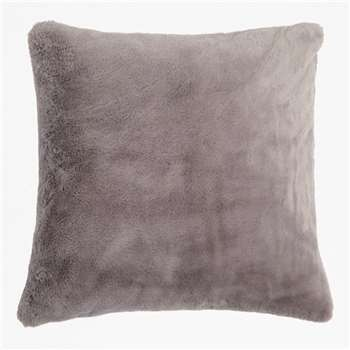 Faux Fur Cushion - Grey (H50 x W50cm)