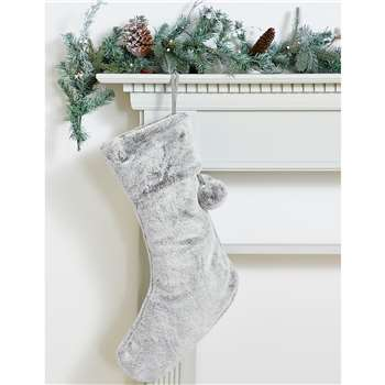 Faux Fur Stocking (H59 x W29 x D4cm)