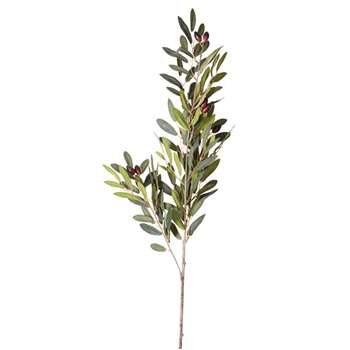 Faux Olive Stem - Green (Height 89cm)