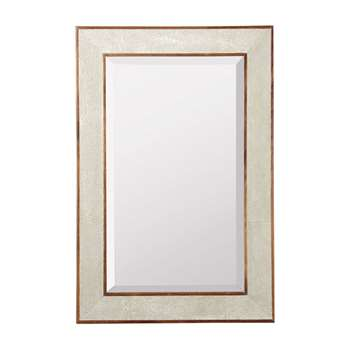Faux Shagreen Dressing Table Mirror - Taupe (60 x 40cm)