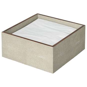 Faux Shagreen Storage Box - Taupe (10 x 23cm)