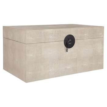 Faux Shagreen Trunk, Large - Taupe (38 x 77cm)