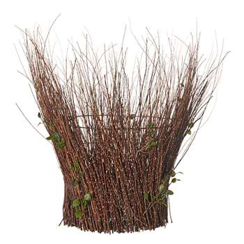 Faux Tortured Willow Planter - Brown (46 x 46cm)