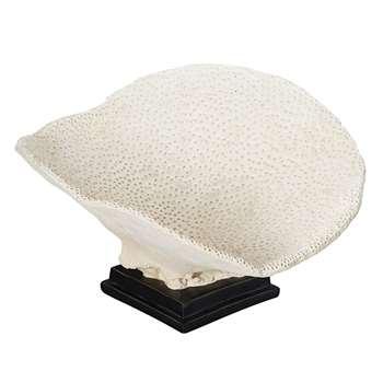 Faux Yongala Coral Decoration - White (29 x 47cm)