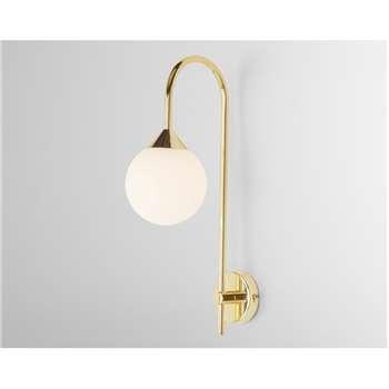 Faye Wall Light Single, Brass (H42 x W12 x D22cm)