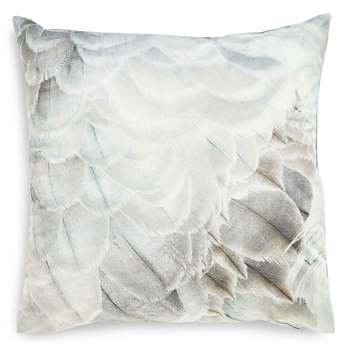 Feather Print Oversize Cushion, Natural Mix (58 x 58cm)
