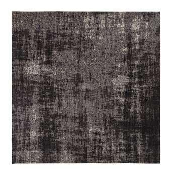FEEL Black Woven Jacquard Rug (H200 x W200 x D2cm)
