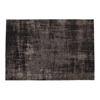 FEEL cotton rug in black (155 x 230cm)