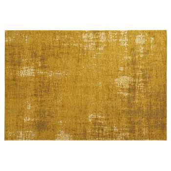 FEEL cotton rug in mustard yellow (155 x 230cm)
