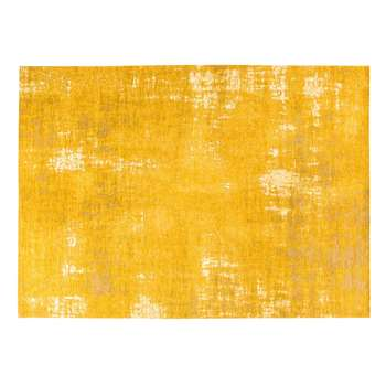 FEEL Mustard Yellow Rug with Jacquard Motifs (H200 x W290cm)