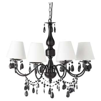 FÉLICIE metal 8 branch chandelier in black D 68cm