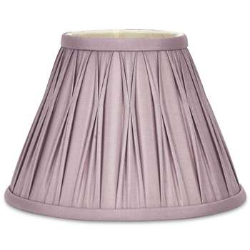 Fenn Round Pinched Pleat Amethyst Silk Shade