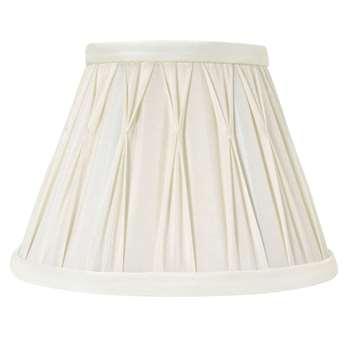 Fenn Round Pinched Pleat Ivory Silk Shade
