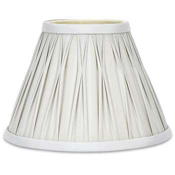 Fenn Round Pinched Pleat Silver Silk Shade (15 x 20cm)