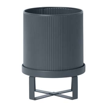 Ferm Living - Bau Outdoor Plant Pot - Dark Blue - Small (H24 x W18 x D18cm)