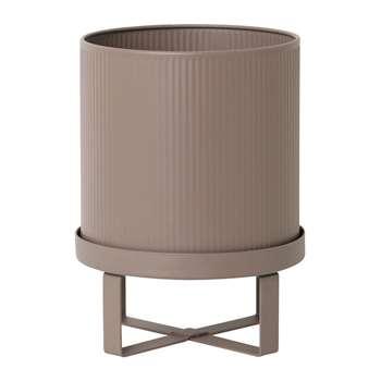 Ferm Living - Bau Outdoor Plant Pot - Dusty Rose - Small (H24 x W18 x D18cm)