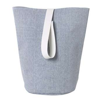 Ferm Living - Chambray Basket - Large - Blue (H62 x W40 x D40cm)