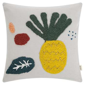 Ferm Living - Embroidered Fruiticana Cushion - Pineapple (H40 x W40cm)