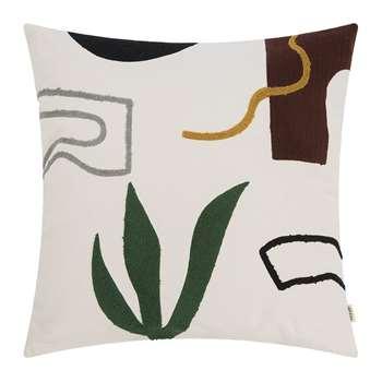 Ferm Living - Hand Woven Mirage Cushion - Cacti (H50 x W50cm)
