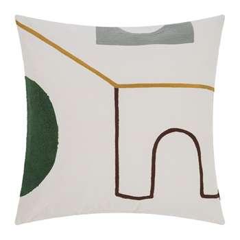Ferm Living - Hand Woven Mirage Cushion - Gate (H50 x W50cm)