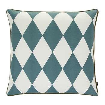 Ferm Living - Large Geometry Cushion - 50x50cm - Petrol