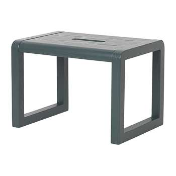 Ferm Living - Little Architect Wooden Stool - Dark Blue (H23 x W33 x D23cm)