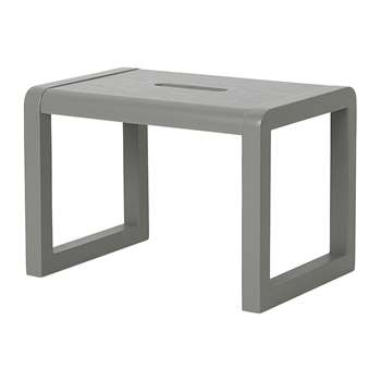 Ferm Living - Little Architect Wooden Stool - Grey (H23 x W33 x D23cm)