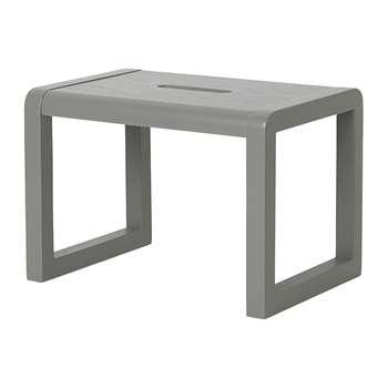 Ferm Living - Little Architect Wooden Stool - Grey (H23 x W33 x D23cm)