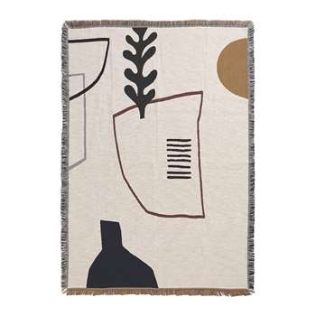 Ferm Living - Mirage Blanket - Off White (H170 x W120cm)
