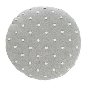 Ferm Living - Popcorn Round Cushion - Grey (Diameter 40cm)