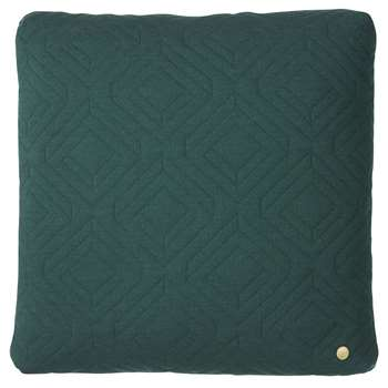 Ferm Living - Quilted Cushion - 45cmx45cm - Dark Green