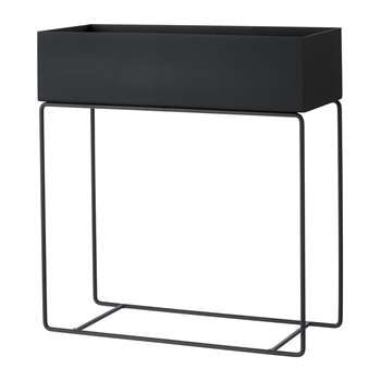 Ferm Living - Raised Metal Plant Box - Black (H65 x W60 x D25cm)