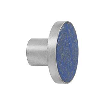 Ferm Living - Steel Wall Hook - Blue Lapis Lazuli - Large (H4 x W4 x D2.5cm)