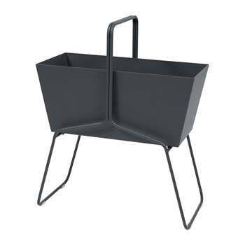 Fermob - Basket High Planter - Anthracite (H84 x W70 x D34cm)