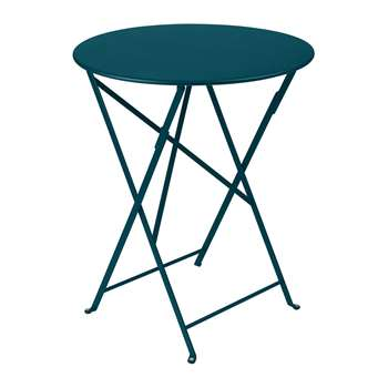 Fermob - Bistro Garden Table - Acapulco Blue (H74 x W60 x D60cm)