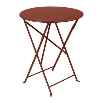 Fermob - Bistro Garden Table- Red Ochre (H74 x W60 x D60cm)