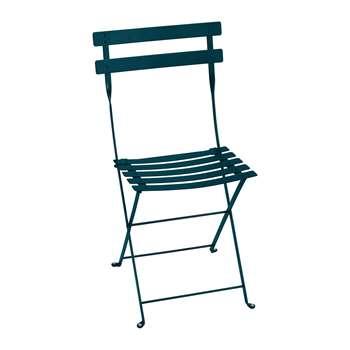 Fermob - Bistro Metal Garden Chair - Acapulco Blue (H82 x W42 x D39cm)