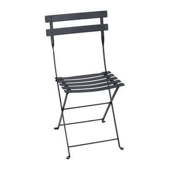 Fermob - Bistro Metal Garden Chair - Anthracite (H82 x W42 x D39cm)