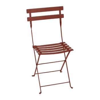 Fermob - Bistro Metal Garden Chair - Red Ochre (H82 x W42 x D39cm)