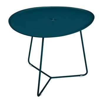 Fermob - Cocotte Low Table - Acapulco Blue (H55 x W50 x D44.5cm)